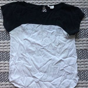 Black and white blouse T-shirt (Kate Spade)